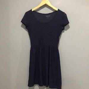 Arizona Navy Lace Short Dress